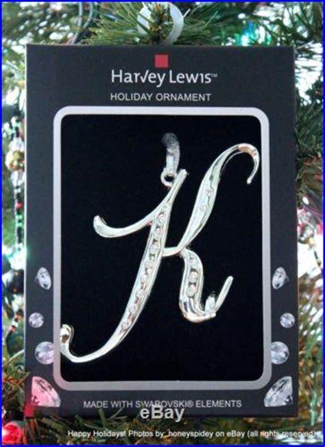 initialmonogram harvey lewis swarovski ornament