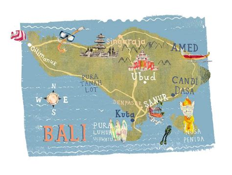 kate evans map  bali bali  bali indonesia