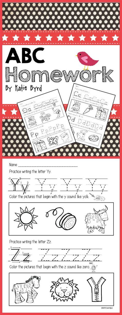 abc homework pages letter writing  sound practice