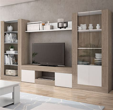 mueble de salon en color sable  blanco de  centimetros