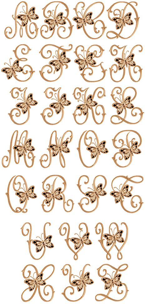 cutwork butterflies font