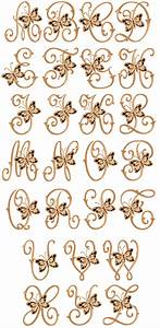 Cutwork butterflies font for Embroidery prices per letter