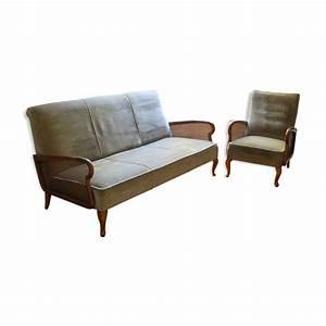 Ensemble canape et fauteuil vintage mes petites puces for Canapé convertible et fauteuil assorti
