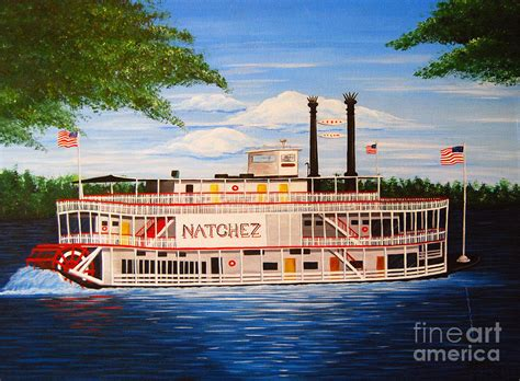 Boat Radio New Orleans by Steamboat On The Mississippi Painting By Valerie Carpenter