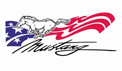 Mustang Ford Vector Clipart Clip Horse Flag