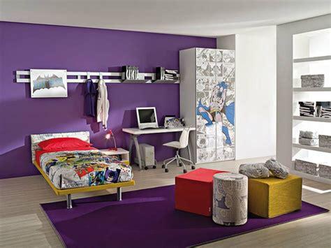 chambre fille et gris décoration chambre fille gris et violet