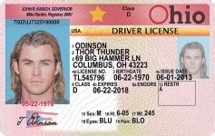 Toledo Ohio Drivers License Template by Illinois Il Drivers License Id Viking