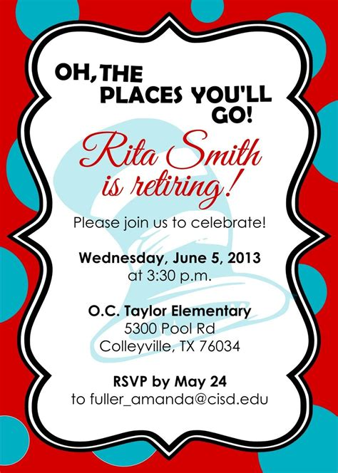 Free Templates For Retirement Invitations by Retirement Invitations Free Templates Stuff