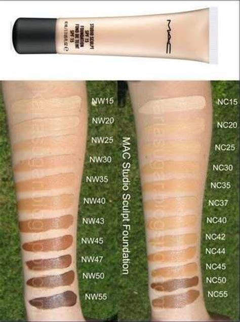 mac foundation color chart 25 best ideas about mac foundation on mac