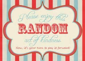 Random Act of Kindness Printable Cards