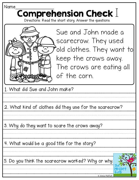 stories with comprehension questions grade