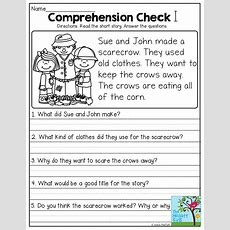 Short Stories With Comprehension Questions!  First Grade Literacy  Pinterest Comprehension