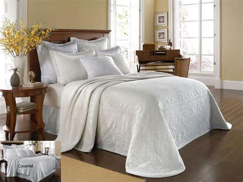 White Coverlet Set by King Charles White Matelasse By Historic Charleston