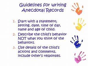 Anecdotal Records Sample In Child Care