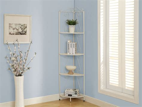 White Metal Etagere by Monarch Specialties Bookcase 70 Quot H White Hammered Metal