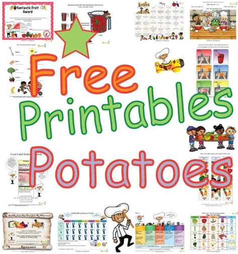types  potatoes activities  kids  printable