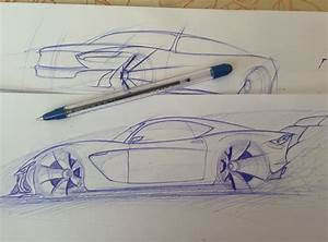 Sports Car Side View Sketch by Mitki4a on DeviantArt