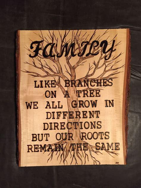 family wood burnt art beginner wood burning wood