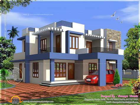 Box type 4 bedroom villa Kerala home design and floor plans