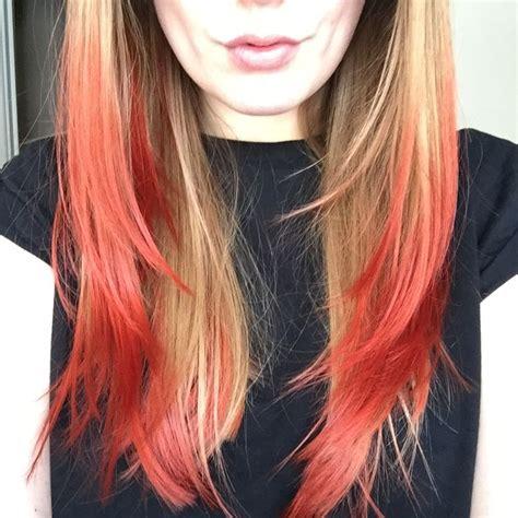 Best 25 Blonde Dip Dye Ideas On Pinterest Blonde Pink