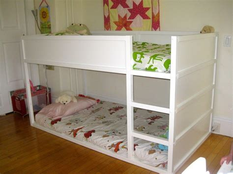 Ikea Kids Loft Bed Painted White. Love How Low To The