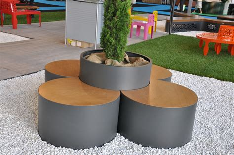 Contemporary Planter Boxes With Modern Brown And Gray