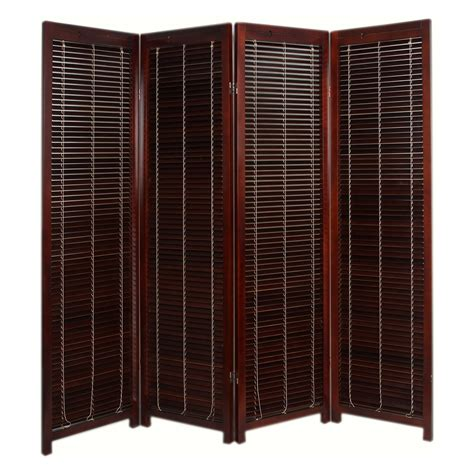 Tranquility Wooden Shutter Screen Room Divider  4 Panel