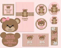 kit ursinha marrom e rosa elo7