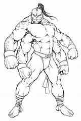 Mortal Kombat Coloring Goro Mksecrets Via sketch template