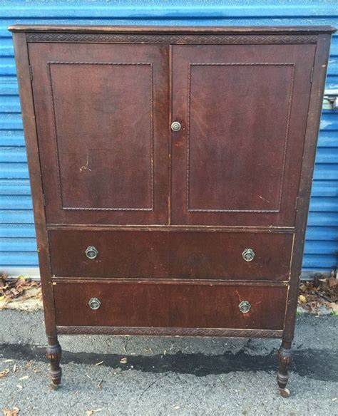 Some intricately made with serpentine or bow front. Vintage Tall Bureau Chest of Drawers Armoire   Vintage ...