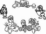 Coloring Pages Avengers Chibi Arcade Baby Avenger Quicksilver Babies Cartoon Print Marvel Printable Coloringbay Getdrawings Getcolorings Sheets Games sketch template