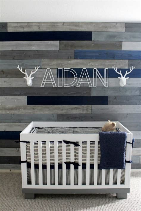 Baby Nurseries On A Budget by Modern Navy And Grey Rustic Nursery Project Nursery