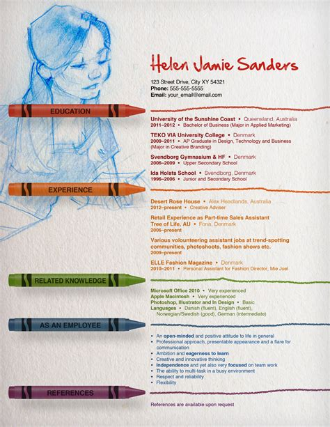 Artist Curriculum Vitae Format by Resume By Thewholeorange On Deviantart