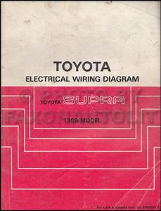 1988 Toyota Supra Wiring Diagram Manual Original