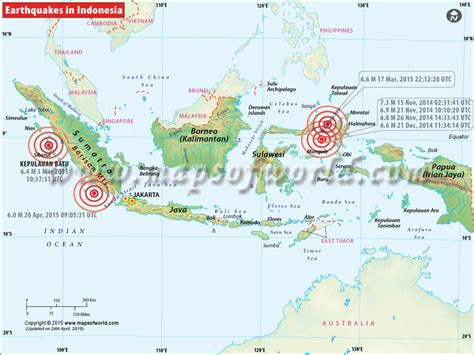 indonesia earthquakes map areas affected  earthquakes