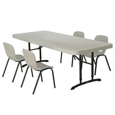 lifetime 174 6 ft table with 4 almond kid s chairs