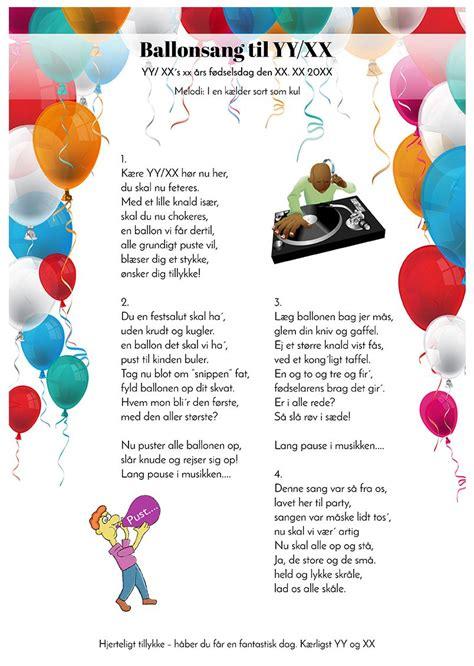 ballonsangen til fodselaren  design fodselsdagsideer