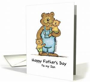 Happy Father's Day to my Son card | Father's day, Fathers ...