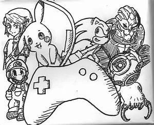 Videogames Sharpie Doodle by AngelicCharizard on DeviantArt