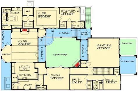 plan jg european home plan  central courtyard courtyard house plans architectural