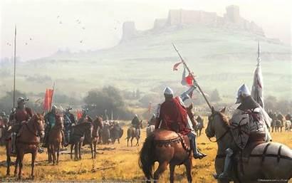 Knights Ages Middle Battle Castle Horse Horses
