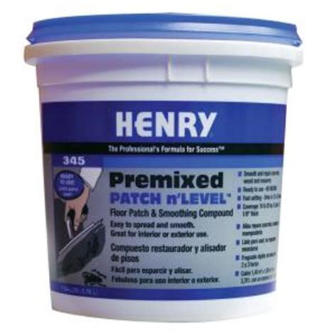 Wood Floor Leveling Compound Home Depot by Henry 345 1 Gal Premixed Patch And Level 12064 The Home