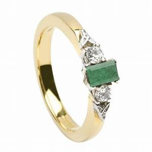 Celtic precious stone diamond ring crossan jewellers for Precious stone wedding rings