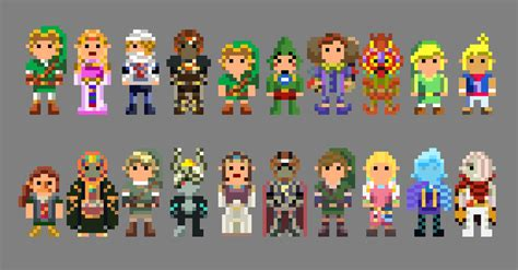 Legend Of Zelda Characters 8 Bit By Lustriouscharming On