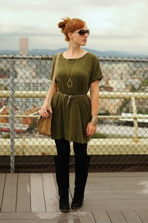olive green ts shirt dress dresses black suede boots