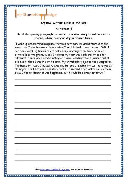 grade 4 english resources printable worksheets topic random topics essays descriptive and