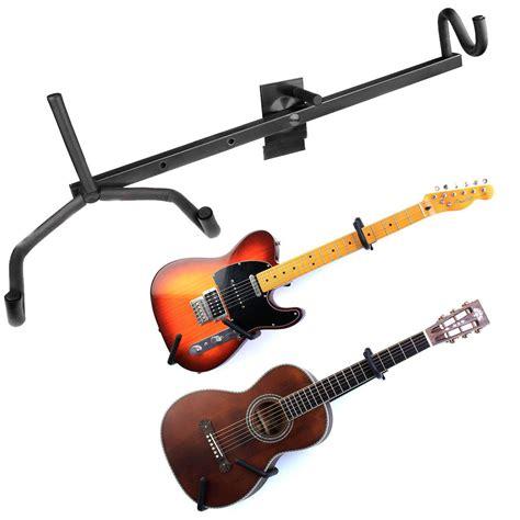 guitar wall hanger black horizontal guitar wall hanger bracket electric 1521