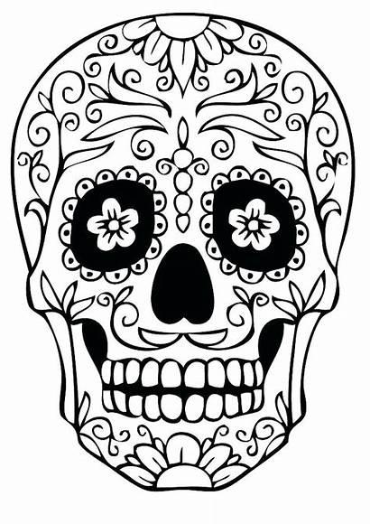Skull Flaming Drawing Coloring Clipartmag