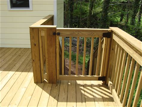 outdoor gate for deck stairs deck stair gate product 7227