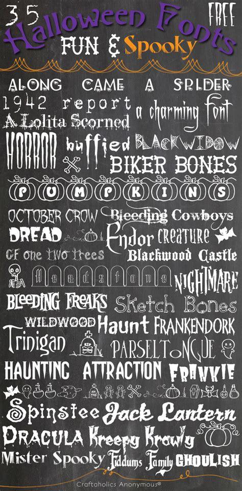 craftaholics anonymous  fun spooky  halloween fonts